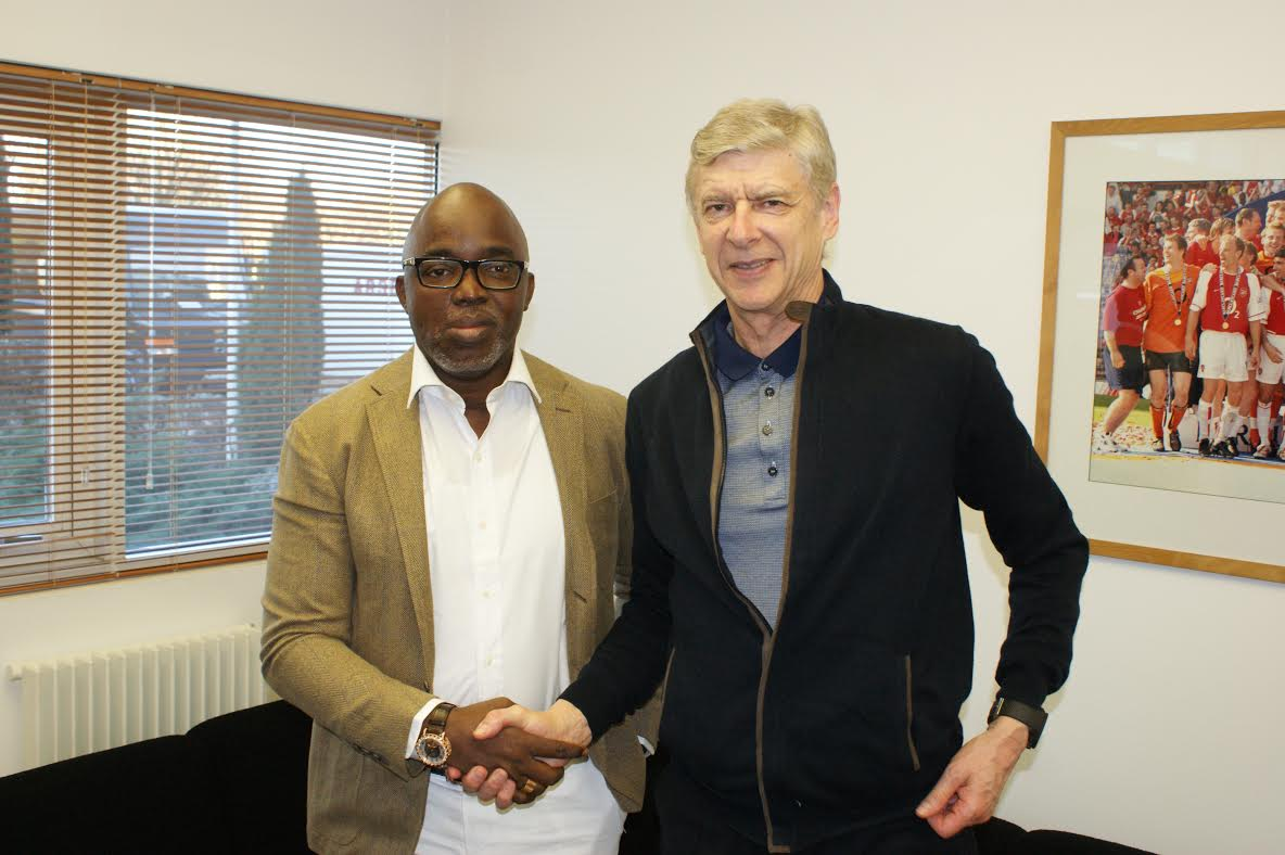Amaju Pinnick meets with Arsene Wenger