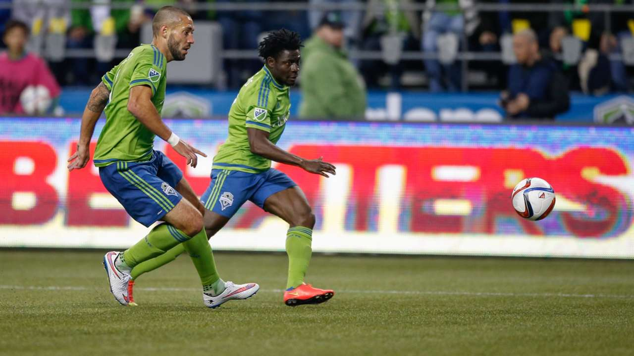 Clint Dempsey and Obafemi Martins of Seattle Sounders
