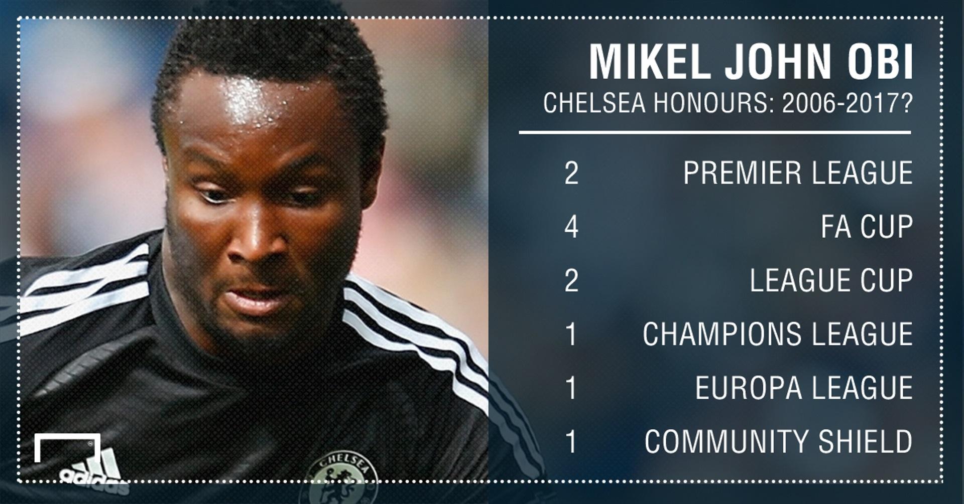 John Obi Mikel Chelsea Honours PS
