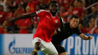 John Ogu of Hapoel Beer Sheva and Celtic's James Forest