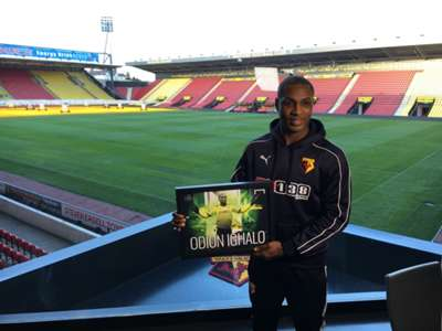Odion Ighalo with Goal Nigeria Player of the Year 2015