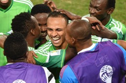 Peter Odemwingie Juwon Oshaniwa Nigeria 2014 WORLD CUP GROUP F (06222014)
