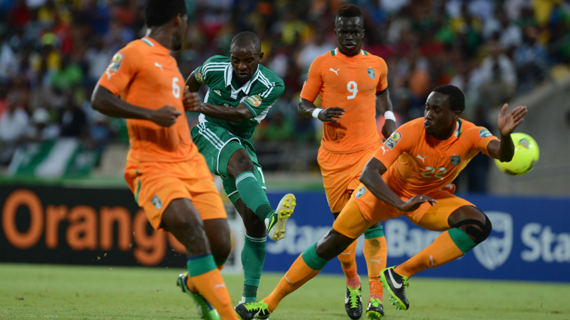 Sunday Mba scores winning goal against Cote d'Ivoire at Afcon 2013