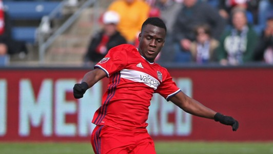 David Accam of Chicago Fire