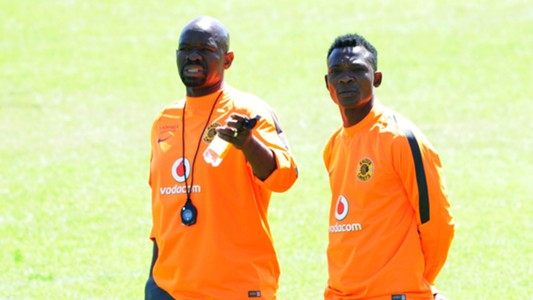 Steve Komphela and John Paintsil of Kaizer Chiefs