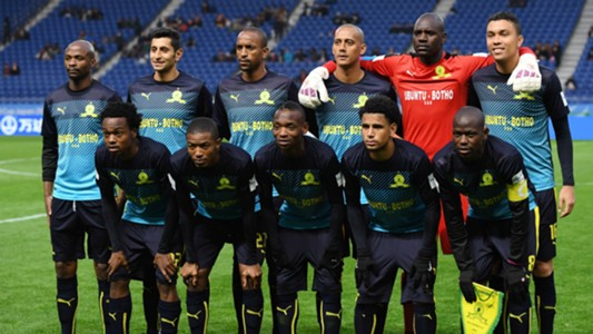 Mamelodi Sundowns team against Jeonbuk