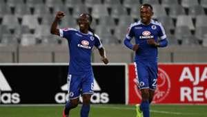 Reneilwe Letsholonyane and Thabo Mnyamane - SuperSport United