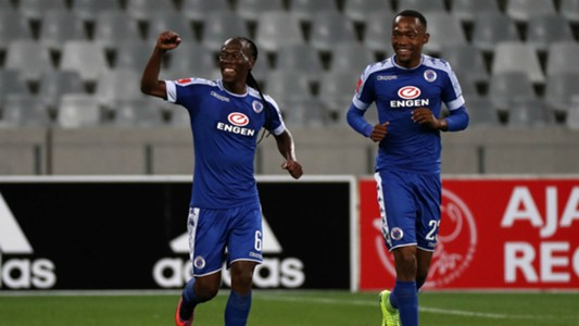 Reneilwe Letsholonyane and Thabo Mnyamane - SuperSport United