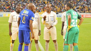 Lebogang Manyama and Itumeleng Khune - Cape Town City and Kaizer Chiefs