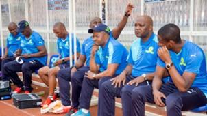 Mamelodi Sundowns technical team bench