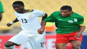 Daniel Darkwah (Ghana) & Rabeson Michael (Madagascar) Cosafa Cup 15 May 2015