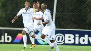 Thulani Hlatshwayo and Sifiso Hlanti of Bidvest Wits