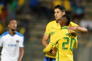 Leonardo Castro and Khama Billiat, Mamelodi Sundowns, February 2016.