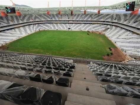 NELSPRUIT, SOUTH AFRICA - 2010, General view of Mbombela Stadium