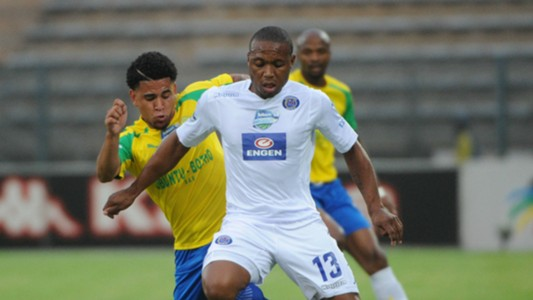Thuso Phala and Keagan Dolly - SuperSport United and Mamelodi Sundowns