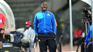 Pitso Mosimane on the touchline for Sundowns