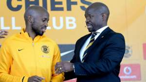 Ramahlwe Mphahlele and Steve Komphela of Kaizer Chiefs