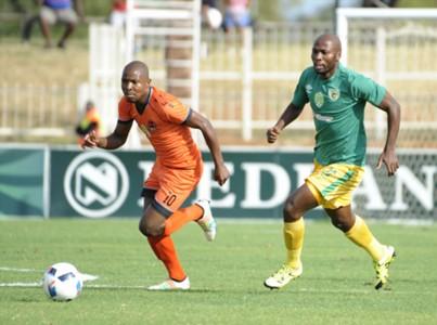 Puleng Tlolane and Jacky Motshegwa