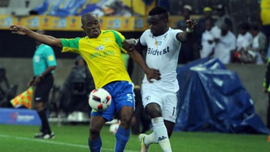 Asavela Mbekile and Gabadinho Mhango - Sundowns v Bidvest Wits