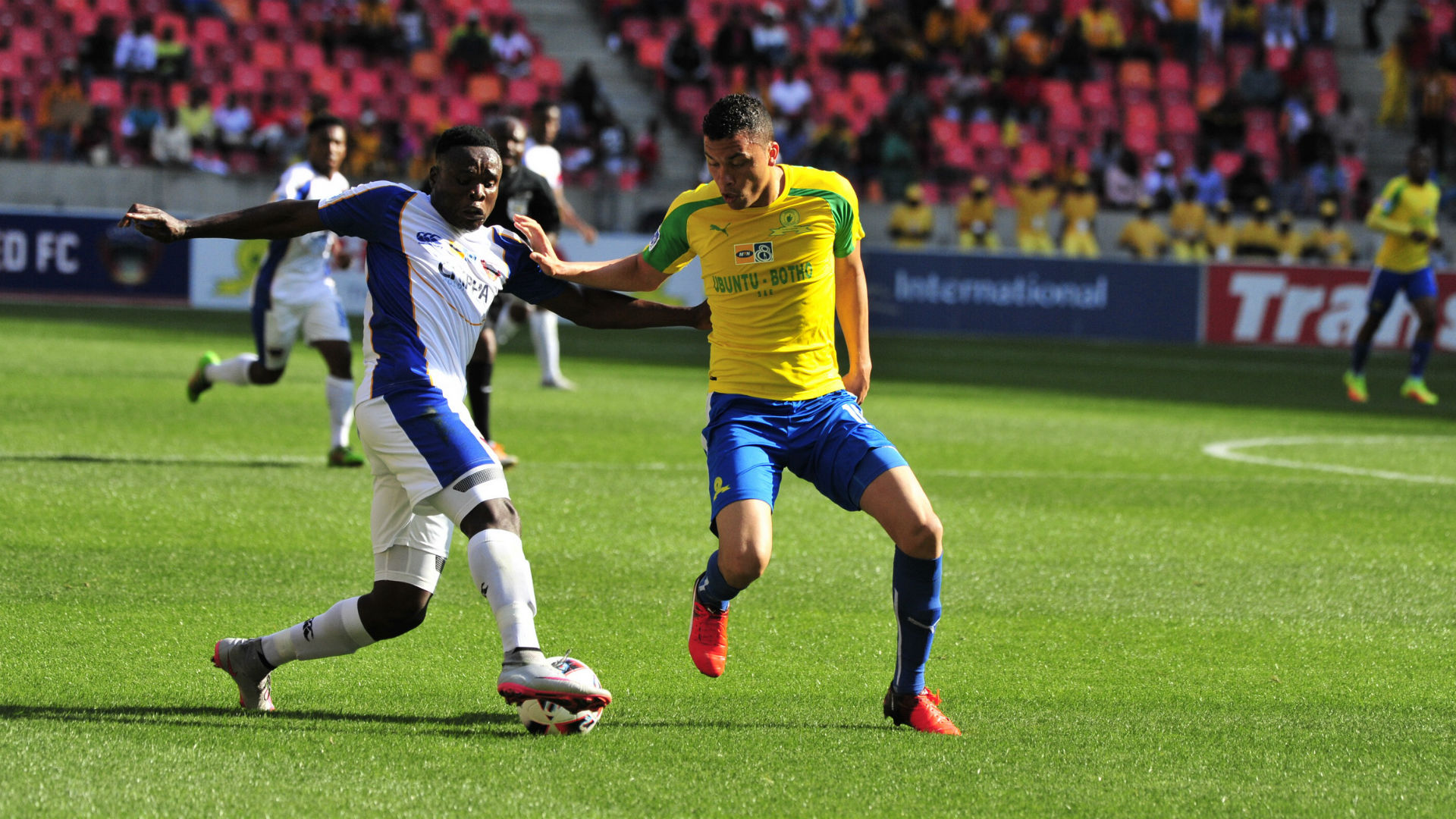 Rhulani Manzini and Ricardo Nascimento - Chippa United v Sundowns