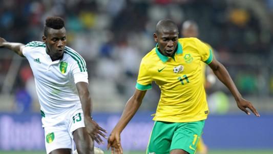 Bakary N'diaye and Aubrey Modiba