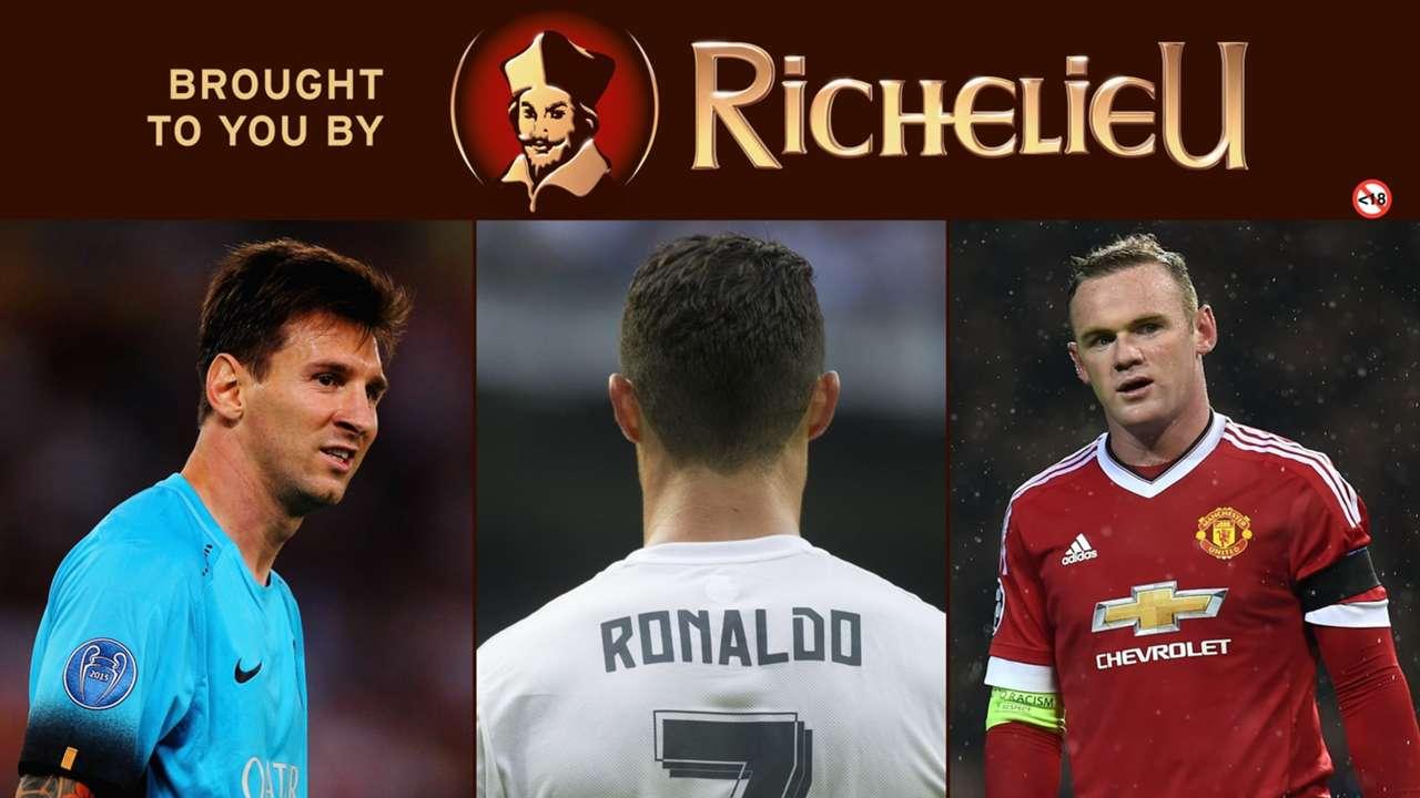 Richelieu Cover -  Messi, Rooney, Ronaldo