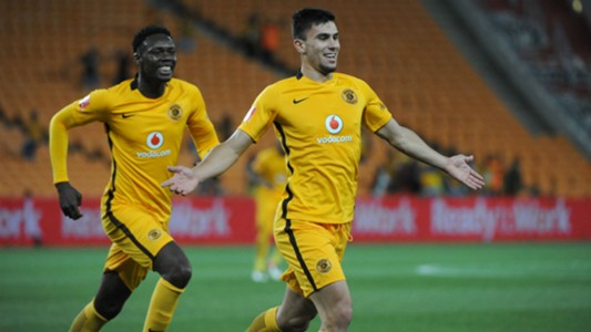 Lorenzo Gordinho and Erick Mathoho of Kaizer Chiefs