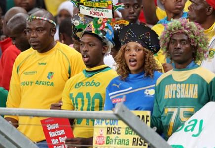 Bafana Bafana fans at the Moses Mabhida Stadium