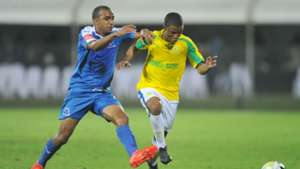 Deolin Mekoa and Samuel Julies - Maritzburg United v Sundowns.