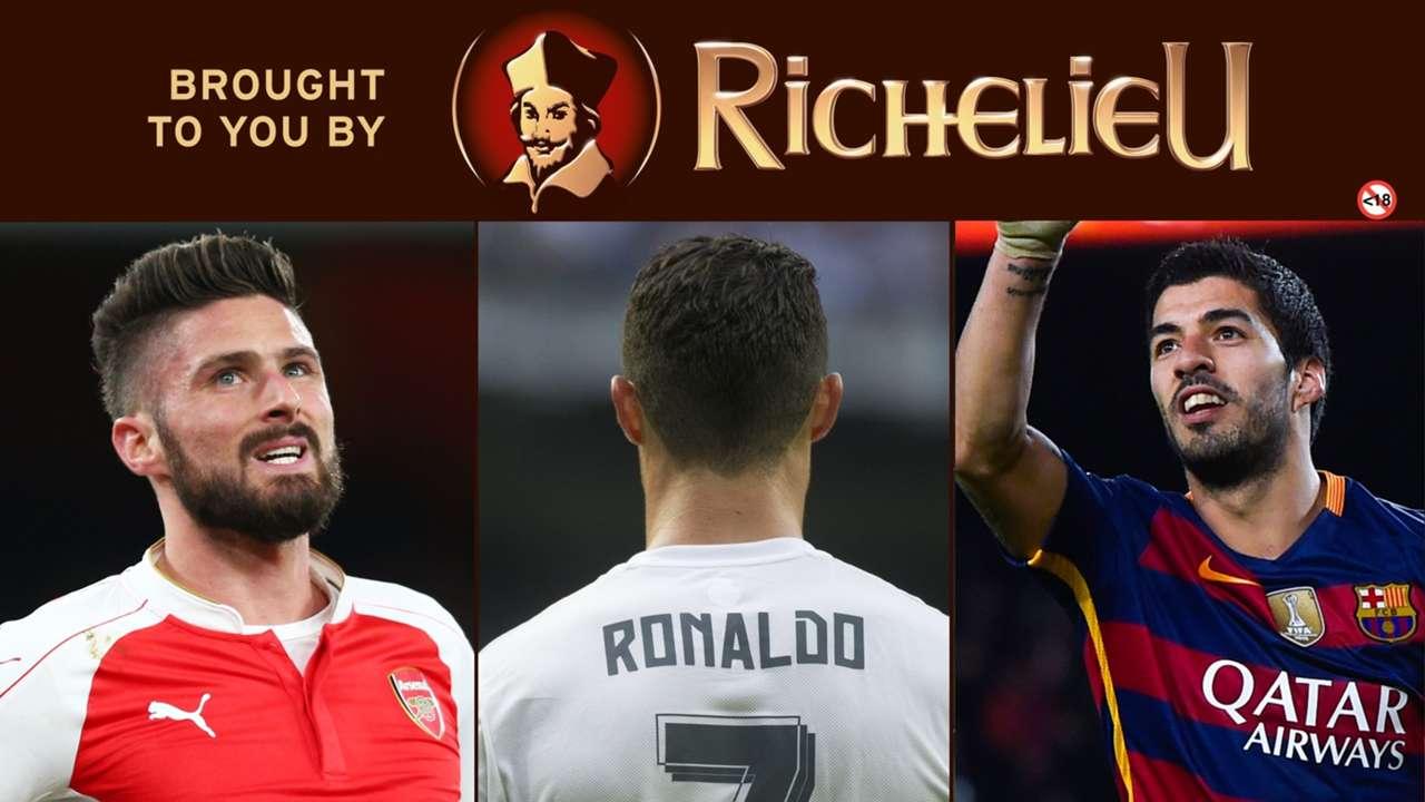 Richelieu Cover: Giroud, Ronaldo, Suarez