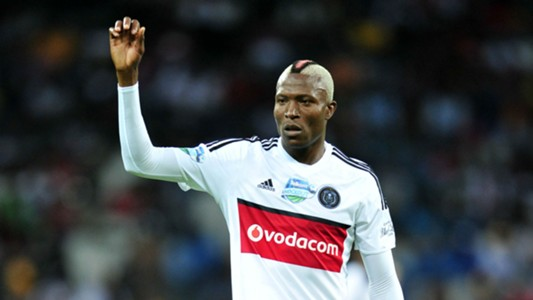 Tendai Ndoro of Orlando Pirates against SuperSport United
