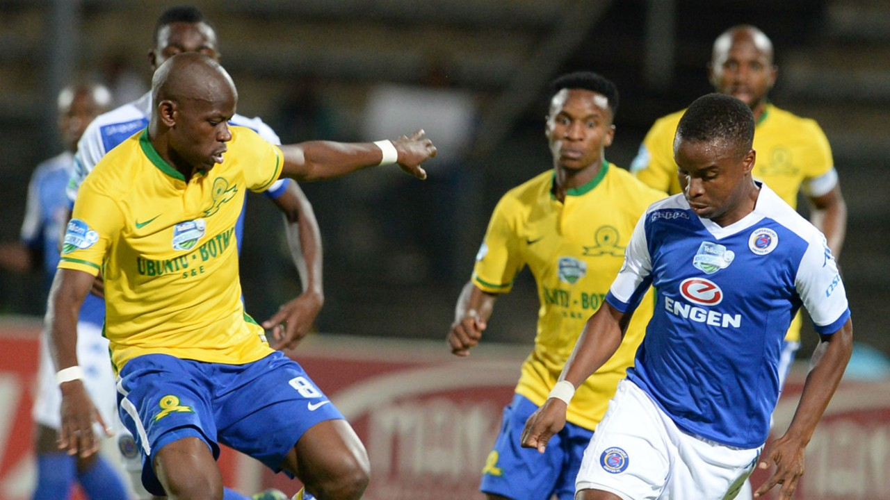 Hlompho Kekana and David Mathebula - Sundowns and SuperSport United