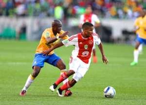 Hlompho Kekana and Rivaldo Coetzee - Sundowns vs Ajax Cape Town