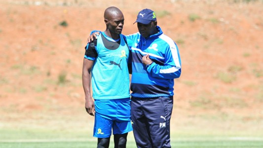 Asavela Mbekile and Pitso Mosimane - Sundowns