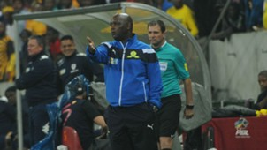 Pitso Mosimane watches on against Bidvest Wits