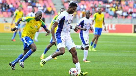 James Okwuosa and Hlompho Kekana - Chippa United v Mamelodi Sundowns