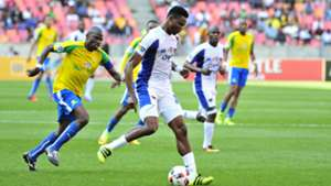 James Okwuosa and Hlompho Kekana - Chippa United v Mamelodi Sundowns