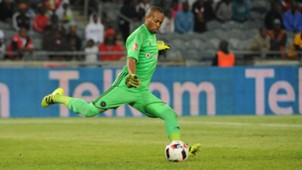 Brighton Mhlongo in action for Orlando Pirates