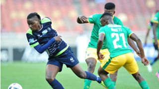 Benson Shilongo of Platinum Stars and Moeti of Baroka FC