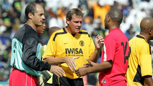 Steve Crawley and Neil Tovey of Kaizer Chiefs