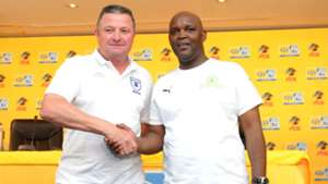 Gavin Hunt and Pitso Mosimane