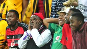 Frustated looking Orlando Pirates fans
