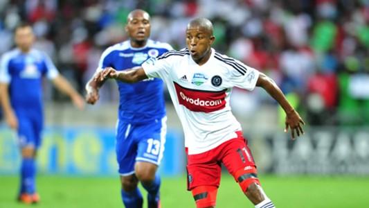 Luvuyo Memela and Thuso Phala - SuperSport United v Orlando Pirates