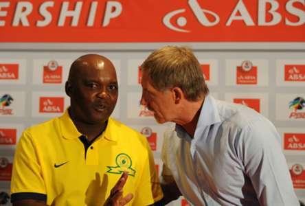 Pitso Mosimane and Stuart Baxter - Mamelodi Sundowns and SuperSport United