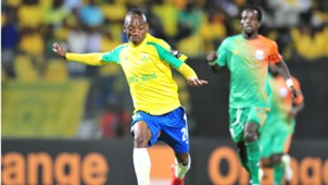 Khama Billiat of Sundowns in action against Zesco United