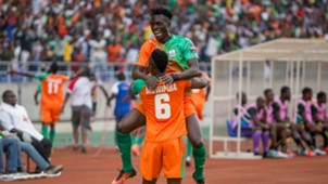 Jesse Were and Silwimba of Zesco United