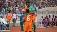 Jesse Were and Silwimba of Zesco United