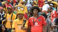Chiefs and Pirates fans at the FNB Stadium