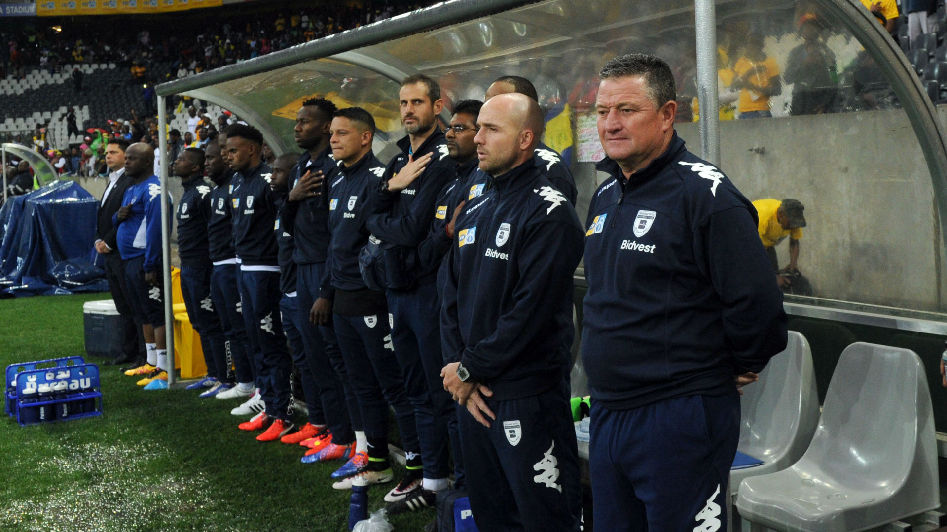 Bidvest Wits bench during the MTN8 final