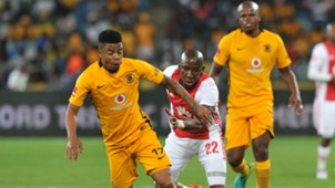 George Lebese and Mark Mayambela - Kaizer Chiefs v Ajax Cape Town